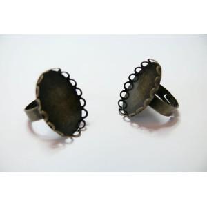 10 bagues ovale bronze vague 18 par 13 A