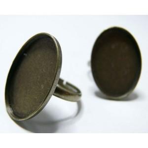 5 pieces bronze  bague  fine 25 par18 mm