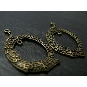 2 pièces magnifique pendentif Paon Moyen modèle ref. A16438