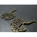 2 pieces bronze arbre ref ZX 15446