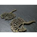 2 pieces bronze arbre ref ZX 15446