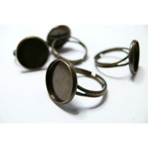 5 supports de bague bronze 20mm