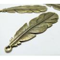 1 pièce magnifique pendentif plume  ref 178