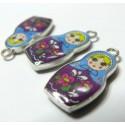 2 pièces  Poupee russe violet ref 283