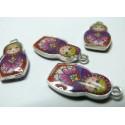 2 pièces  Poupee russe rose /violet ref 287