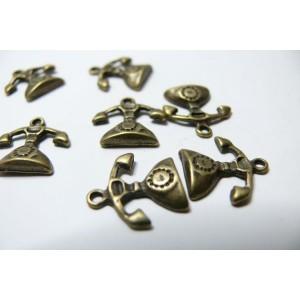 10 pieces bronze telephones