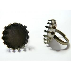 1 Supports de bague  bronze ronde 20mm Couronne