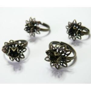 1 Supports de bague bronze petite fleur