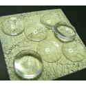 20 pieces cabochon en verre 16mm A