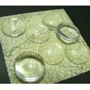 20 pieces cabochon en verre 10mm A