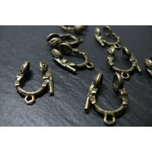 10 pieces breloques écouteurs bronze