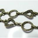 20 cm Bronze chaine Pique