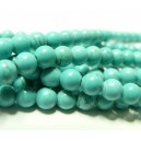 1 fil Turquoise Howlite  6mm