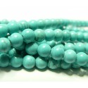 1 fil Turquoise Howlite 8mm