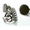 10 Supports de bague 20 mm vague bronze  anneau dentelle