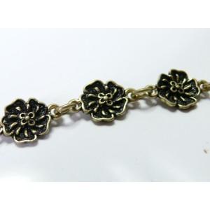 20 cm Bronze chaine fleur