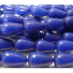 10 cones jade teintée bleu nuit 10*14mm
