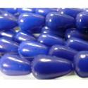 4 cones jade teintée bleu nuit 10*14mm