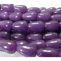 10 cones jade teintée violet nuit 10*14mm