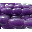 4 cones jade teintée violet 10*14mm