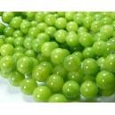 10  jade teintée couleur vert anis 8mm