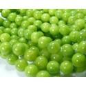 10 jade teintée couleur vert anis 6mm