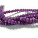 6 perles Jade  violet facetté rondelles 5*8mm