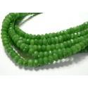 10 perles Jade vert facetté vert emeraude rondelles 5*8mm