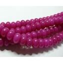 10 perles Jade fushia rondelles 6*10mm