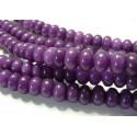 10 perles Jade violet rondelles 6*10mm