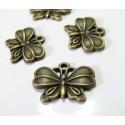 2 pieces bronze papillon arty