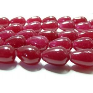 10 cones jade rouge fushia10*14mm