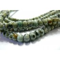 10 rondelles Turquoise Africaine 4x6mm
