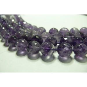 5 perles veritable Amethyste facettée grade A 8mm