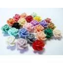 24 cabochons Résine Fleur mulit color 14x13x10mm ref RB0592