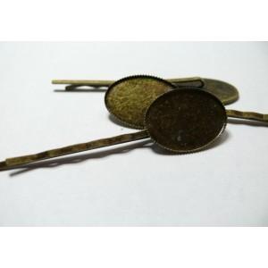 10 Supports de barrette  Bronze 18 par 13