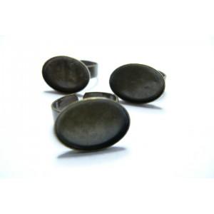 1 piece bronze oval Horizontale bague 13 par18