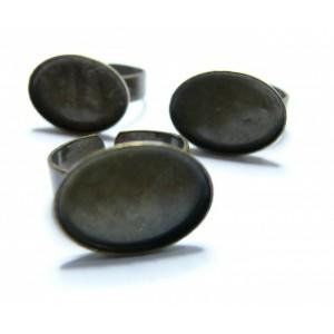 10 pieces bronze  Horizontale ovale bague 13 par18