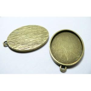 1 Support de pendentif oval 30 par 40mm bronze