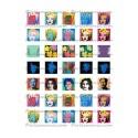 Collage Digital Pop Art Carré 25mm