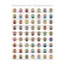 Collage  digital Poupée Russe ronde 12mm