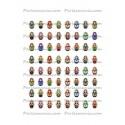 Collage Digital Poupée Russe Ovale 18 par 13mm