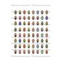 Collage Digital Poupée Russe Ovale 18 par 25mm