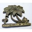 1 grand pendentif bronze l'ile aux cocotiers