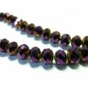 le fil de 72 perles de cristal facetté violet 5 par 8mm