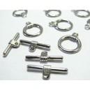 6 pieces ( 3 paires ) PP Lock/ fermoir A
