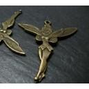 Apprêt bijoux 2 pendentifs bronze Grande fée clochette