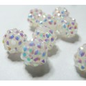 10 perles shambala blanc 12*10mm