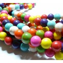 106 perles Turquoise Howlite mulitcolor 4mm ( 1 fil )