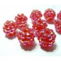 10 perles shambala grenat 12*10mm